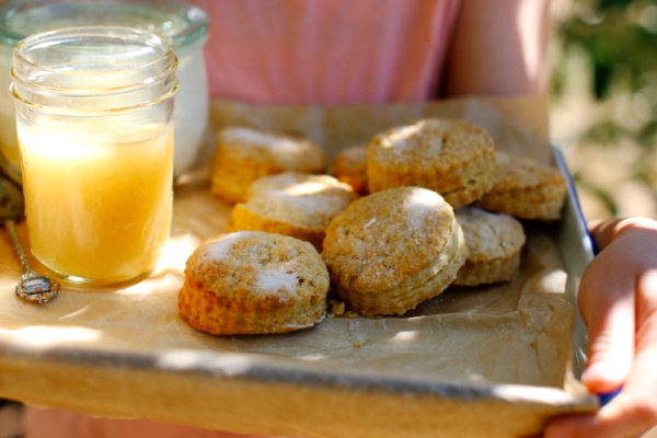 Buttermilk Shortcake with Apple Butter and Cream