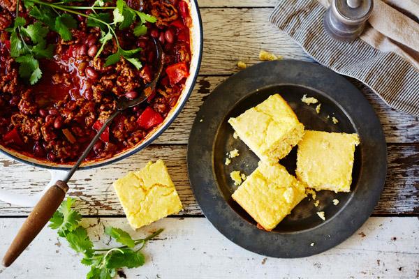 Chilli Con Carne with Corn Bread