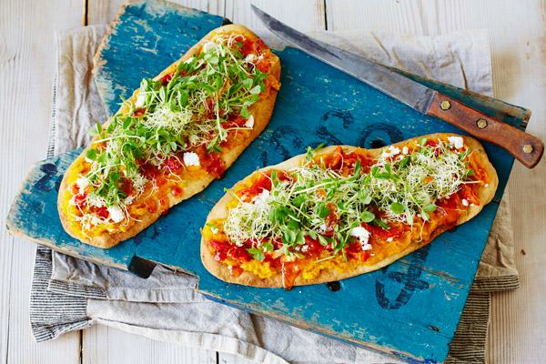 Flat Bread Vegetable Slice