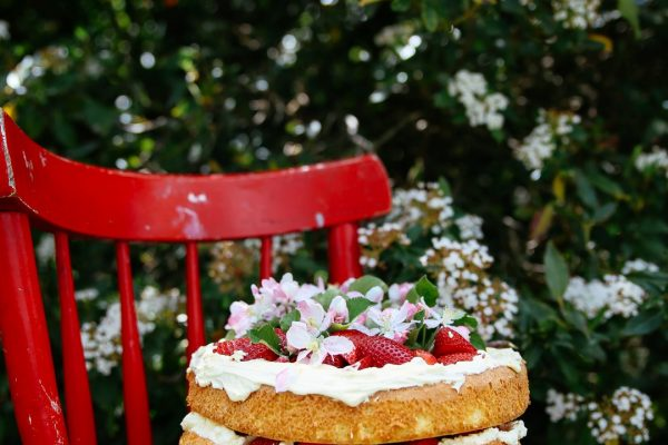 Strawberry and Elderflower Sponge