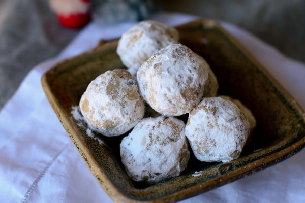 Almond and Cranberry Snowball Cookies
