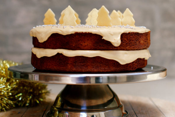 Ginger and Honey Cake with Caramel Cream Cheese Frosting