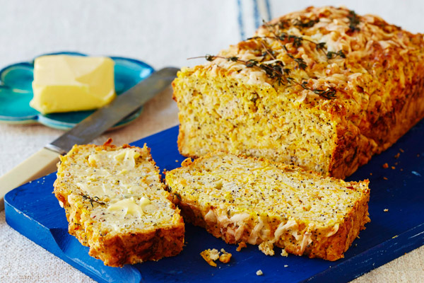 Pumpkin and Sesame Seed Cheese Loaf