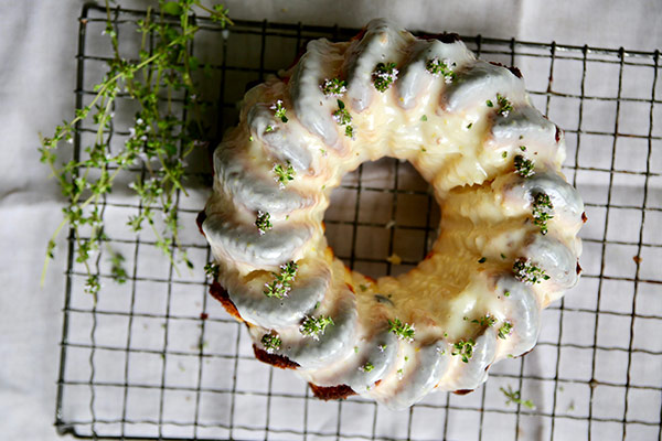 Lemon, Yogurt and Lemon Thyme Bundt Cake