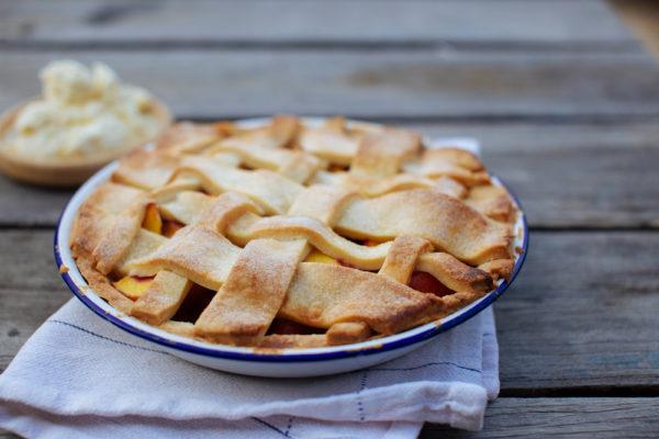 Nectarine and Vanilla Pie