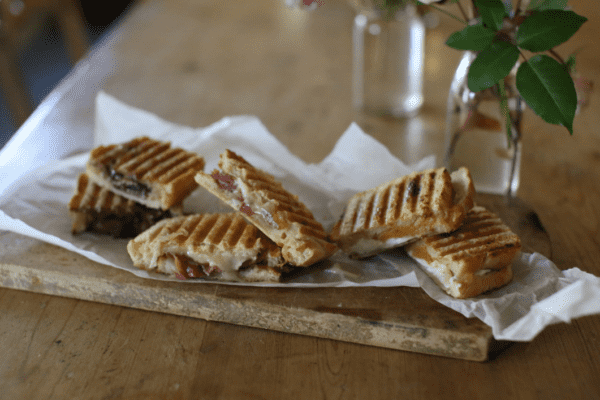 Chocolate, Mascarpone and Fig Ham Toasty