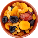 mixed dried fruit