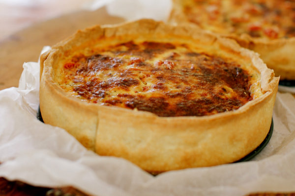 Caramelised Onion and Tomato Quiche
