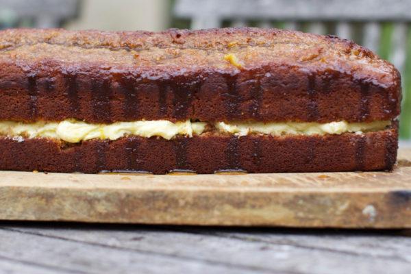 Honey Spice Cake with Orange Buttercream