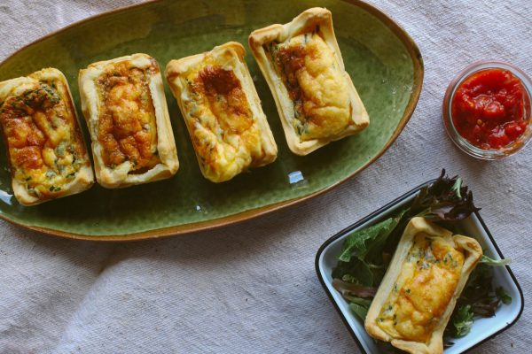 Leek and Ham Quiches