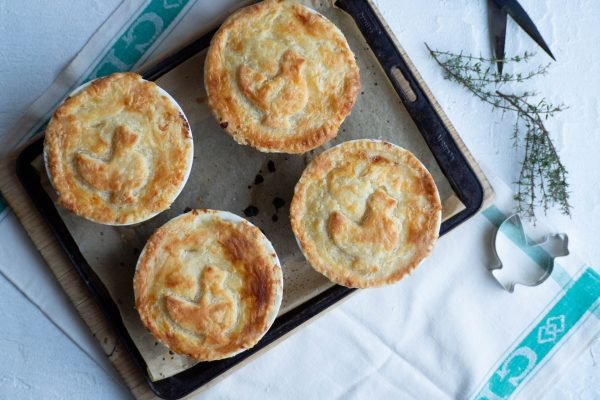 Mini Chicken Leek and Thyme Pies
