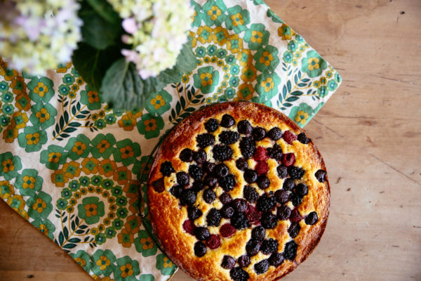 Summer Berry and Ricotta Cake