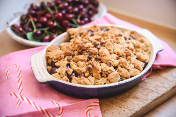Chocolate Chip Cherry Cobbler