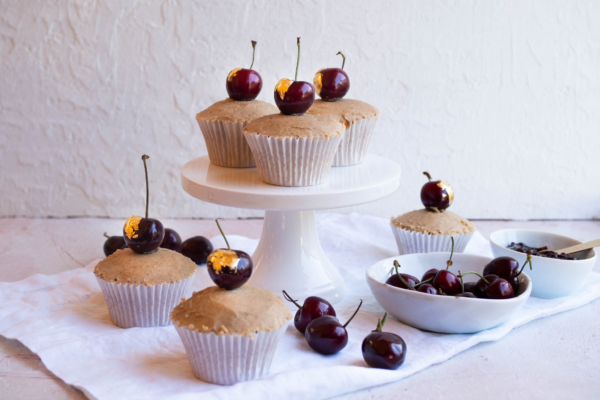 Spiced Cherry Cupcakes