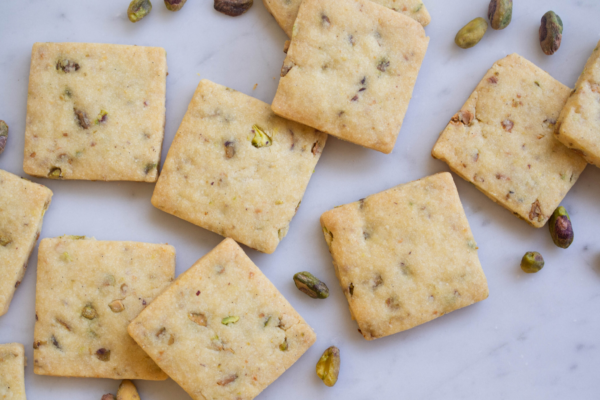 Pistachio and Vanilla Shortbread