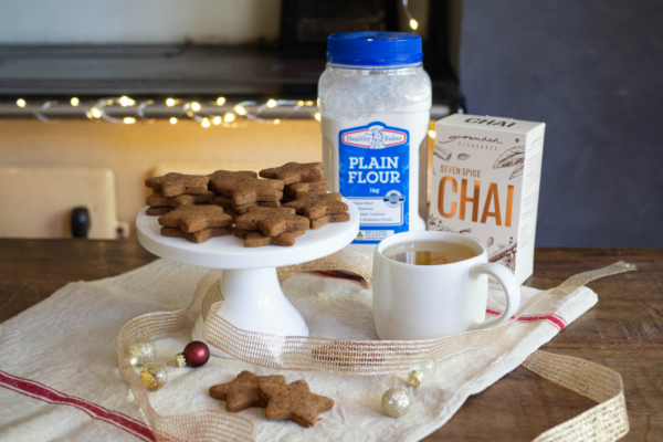 Christmas Chai Stars Biscuits
