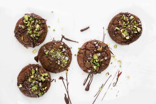 Double Choc Pistachio Cookies