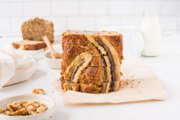 Healthy Wholemeal Banana Walnut Bread