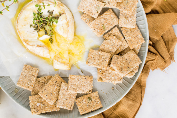 Thyme and Garlic Wholemeal Oat Seed Crackers