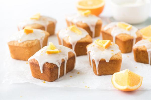 Wholemeal Mini Orange Yogurt Cakes