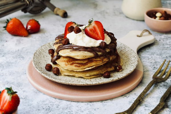 Protein Packed Nutella Stuffed Pancakes