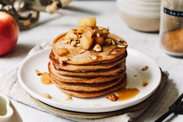 Healthy and Happy Chai Apple Pancakes