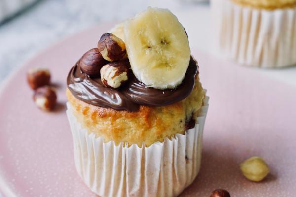 Body Builder Banana and Hazelnut Muffins