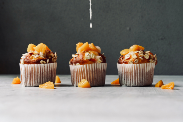 Protein Punching Peaches and Cream Muffins