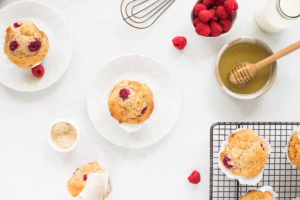 Wholemeal Raspberry Honey Muffins