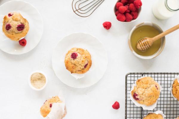 Wholemeal Raspberry Honey Muffins
