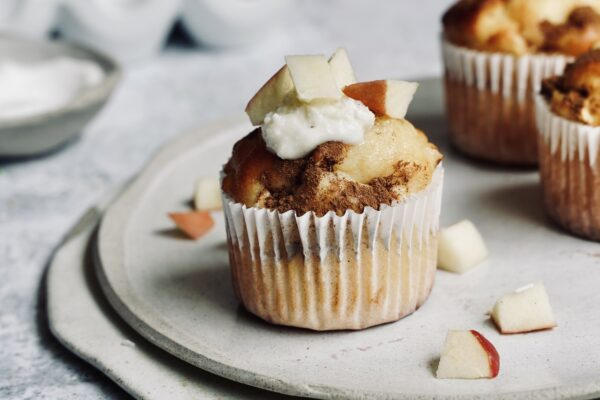 Healthy Happy Apple, Chai & Ricotta Muffins