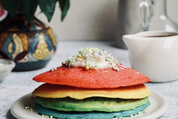 Rainbow Celebration Pancakes