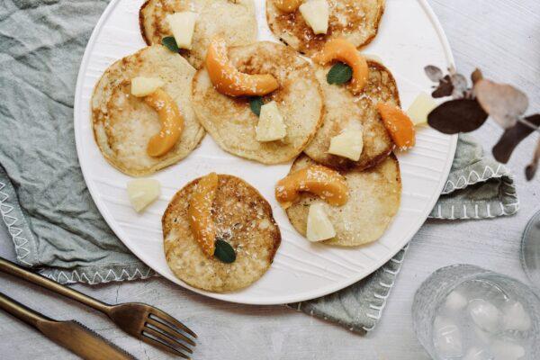 Enhancing Tropical Coconut Pancakes