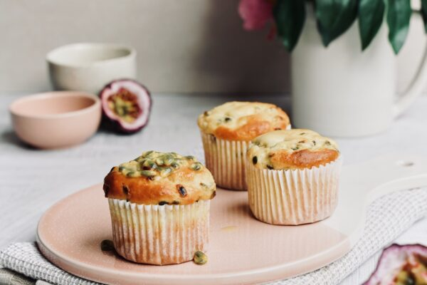 Protein Punching Passionfruit and Sour Cream Muffins