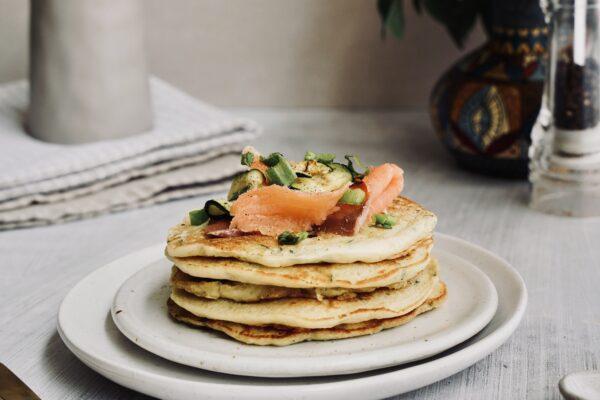 Zucchini & Smoked Salmon Pancakes