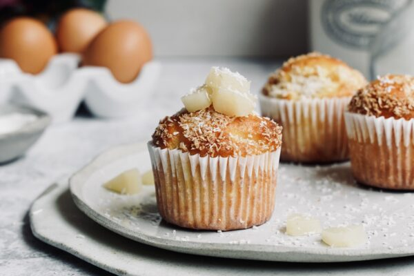 Pear & Coconut  Muffins