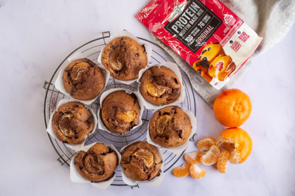 Choc Mandarin Protein Muffins