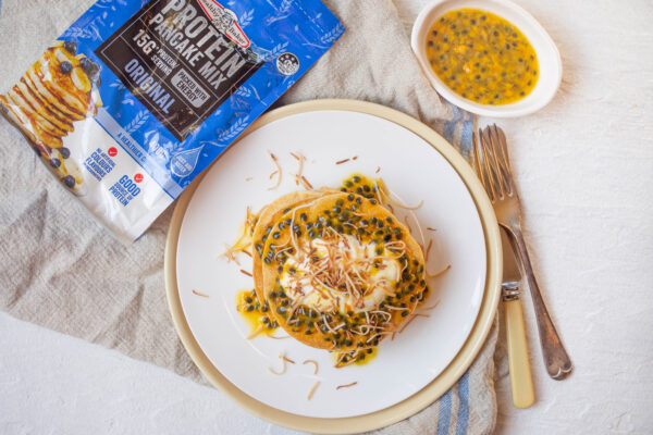 Coconut and Passionfruit Protein Pancakes
