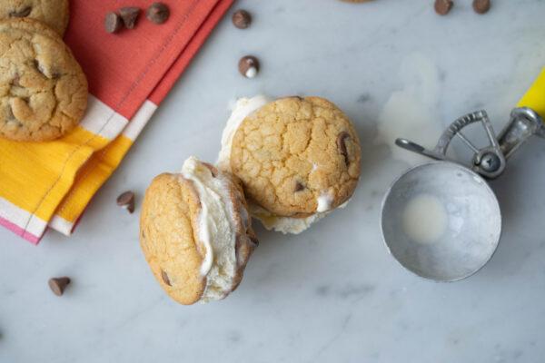 Burnt Butter Choc Chip Cookie Ice Cream Sandwich